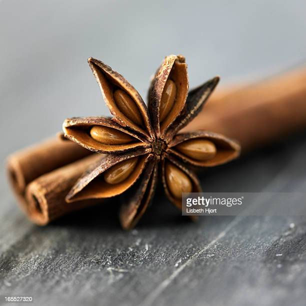 Close up of star anise spice