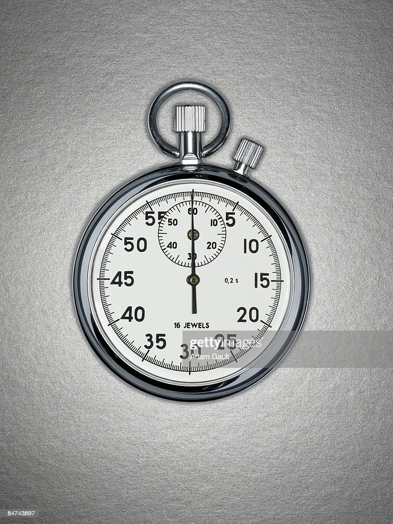 Close up of stopwatch : Bildbanksbilder