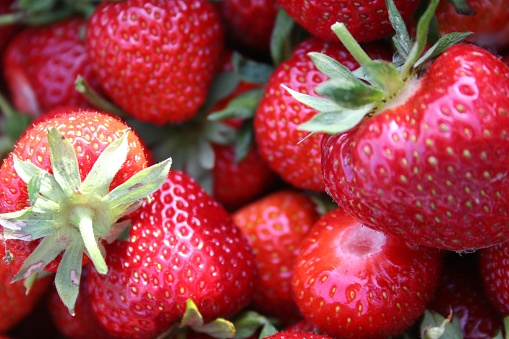 A close up of strawberries - gettyimageskorea
