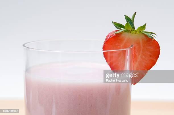 close up of strawberry milkshake - strawberry milkshake and nobody stock pictures, royalty-free photos & images