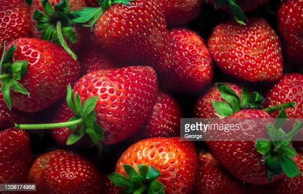 close up of strawberrys - strawberry stock pictures, royalty-free photos & images