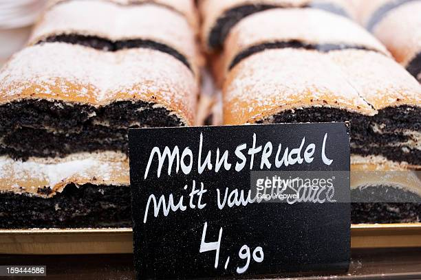 Close up of Strudel for sale on Christmas Market