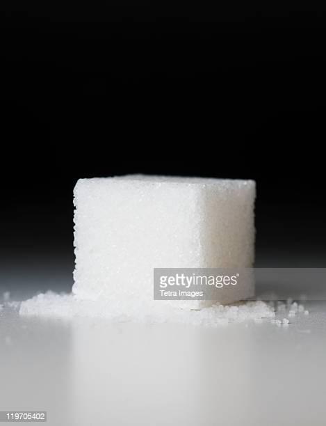 Close up of sugar cube