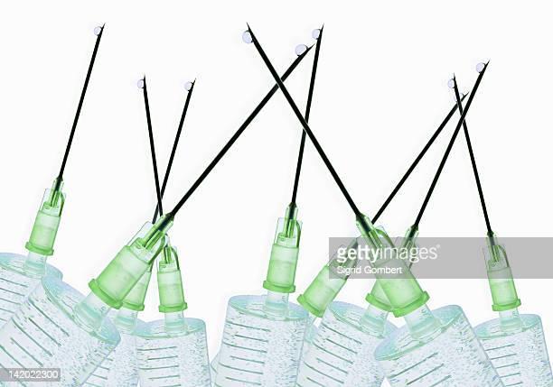 close up of syringes - sigrid gombert stock-fotos und bilder