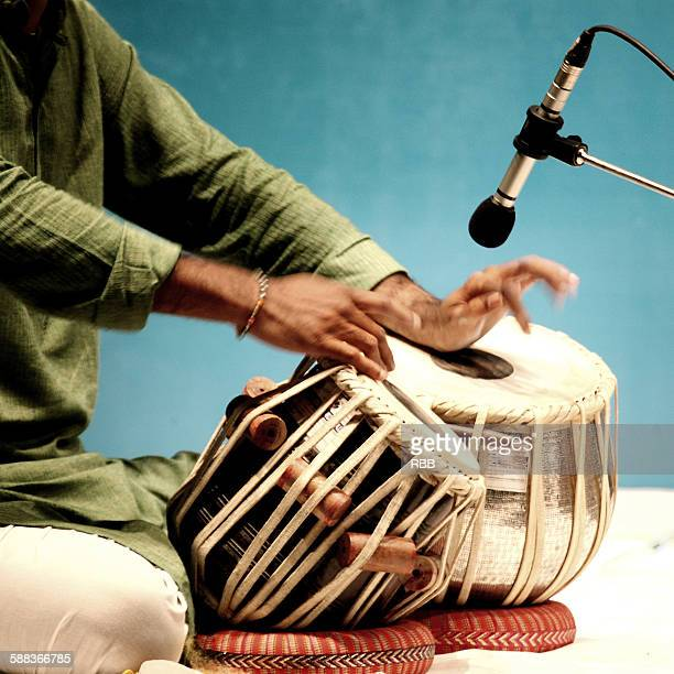 Close up of tabla playing hands