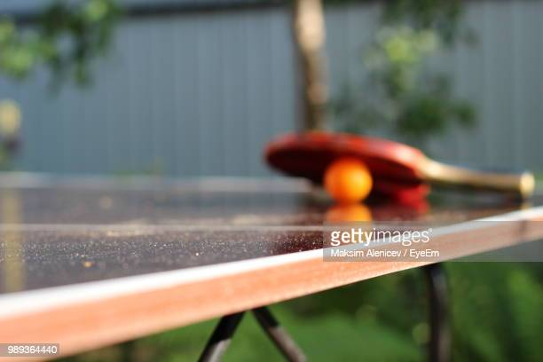 Close Up Of Table Tennis