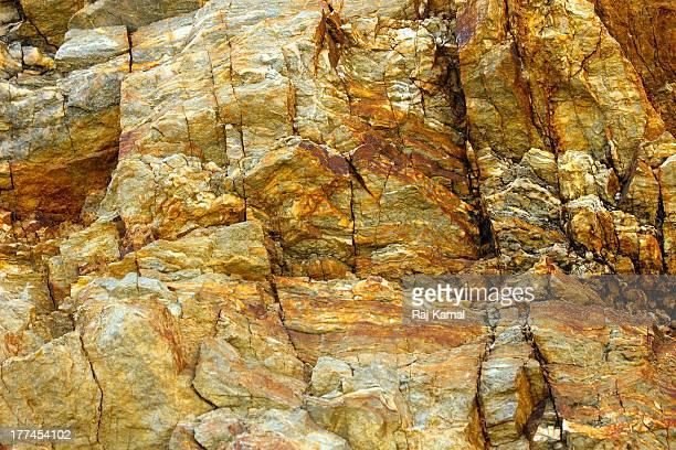 Close up of Textured Rock Face