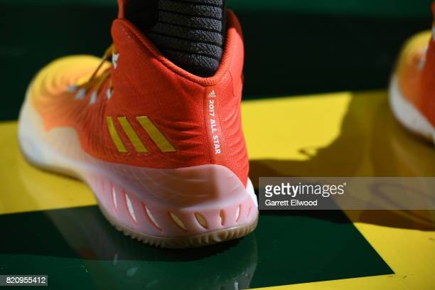 A close up of the 2017 WNBA All Star sneaker during the Verizon WNBA AllStar Game 2017 at KeyArena on July 22 2017 in Seattle Washington NOTE TO...