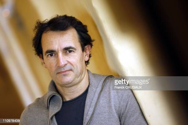 "Close up of the actor Albert Dupontel in the occasion of the before premiere of film ""Deux jours a tuer"" in Lille France on April 14th 2008"