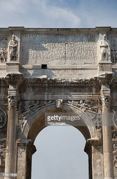Close up of the Arch of Constantine, Italy