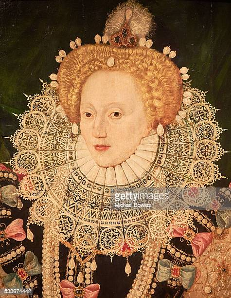 A close up of The Armada Portrait of Queen Elizabeth I as Art Fund and Royal Museums Greenwich launch public appeal to save famous portrait of...