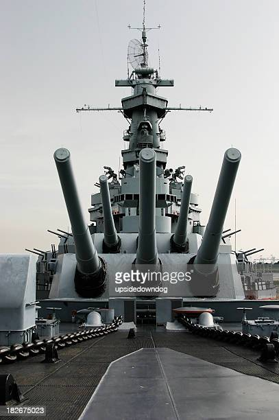close up of the battleship uss alabama - warship stock pictures, royalty-free photos & images