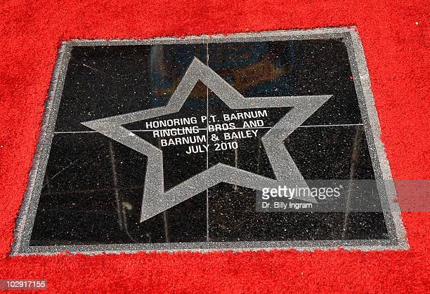 A close up of the Circus Founder PT Barnum's Star at the Dedication Ceremony at Nokia Plaza LA LIVE on July 15 2010 in Los Angeles California