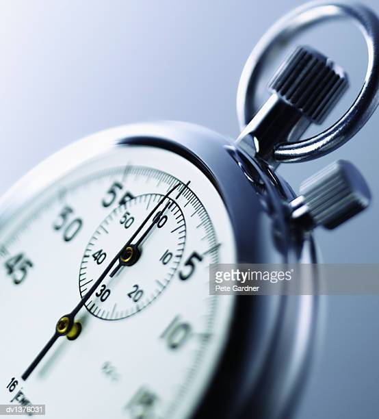 Close Up of the Clockface of a Stopwatch