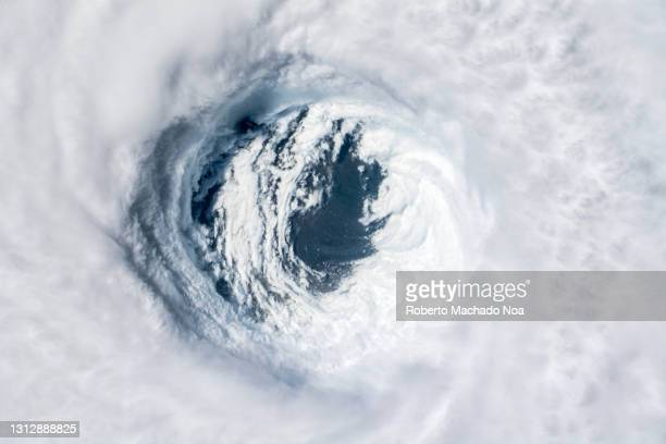 close up of the eye of hurricane michael, year 2018 - extreme weather stock pictures, royalty-free photos & images