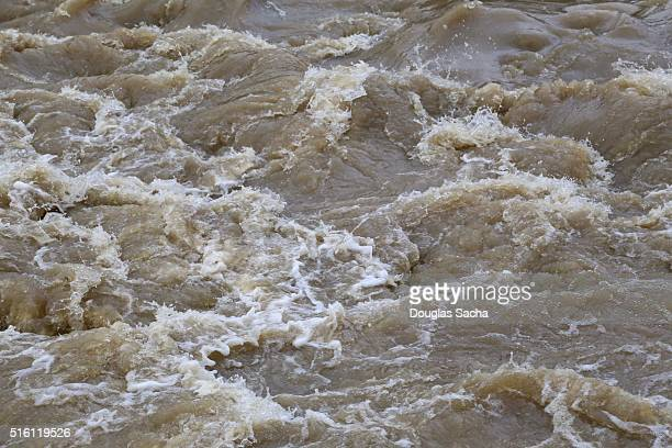 Close up of the Fast flowing river