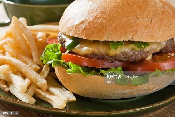 Close up of the fresh hamburger