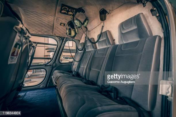 close up of the helicopter inside, sondrio province, lombardy, italy - inside helicopter imagens e fotografias de stock