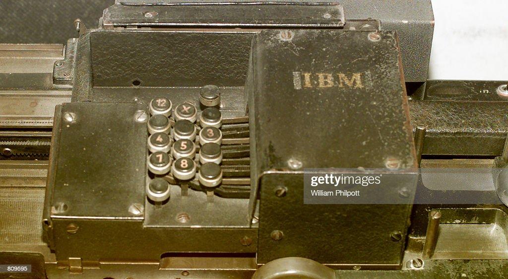 Ibm Card Sorting Machine In US Holocaust Museum : News Photo