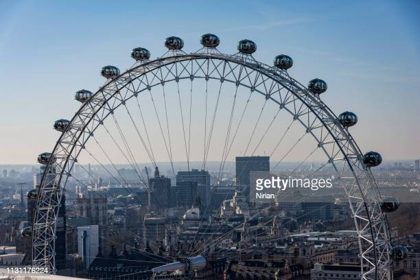close up of the london eye - london eye stock pictures, royalty-free photos & images