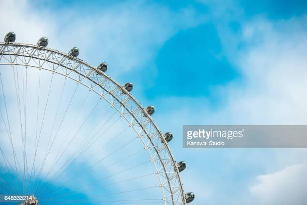 close up of the london eye - london eye stock photos and pictures