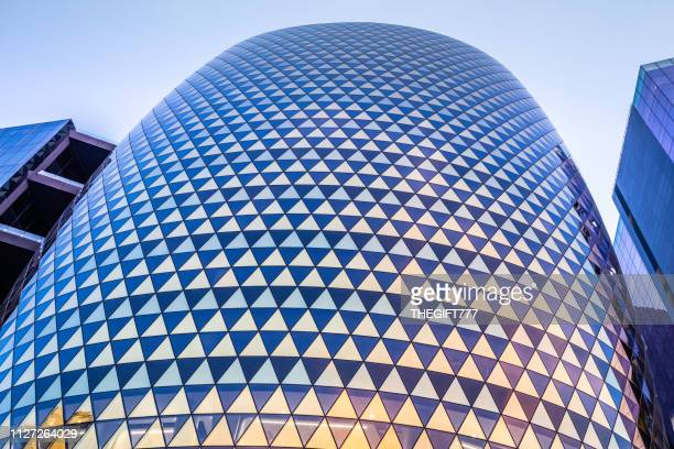 close up of the marc building in sandton city - sustainable architecture stock pictures, royalty-free photos & images