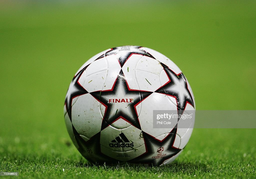 Close up of the match ball during the UEFA Champions League Group G match between Arsenal and CSKA Moscow at The Emirates Stadium on November 1, 2006 in London, England.