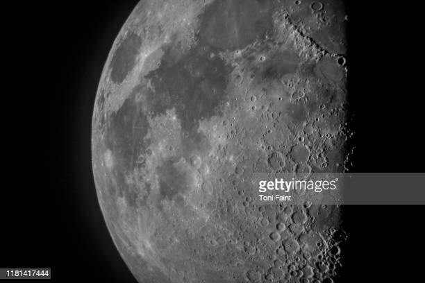a close up of the moon - moon stock pictures, royalty-free photos & images