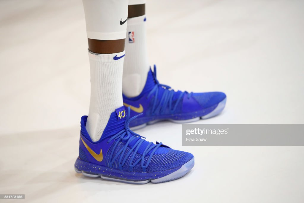 ffa9088afdaf A close up of the Nike shoes worn by Kevin Durant of the Golden ...