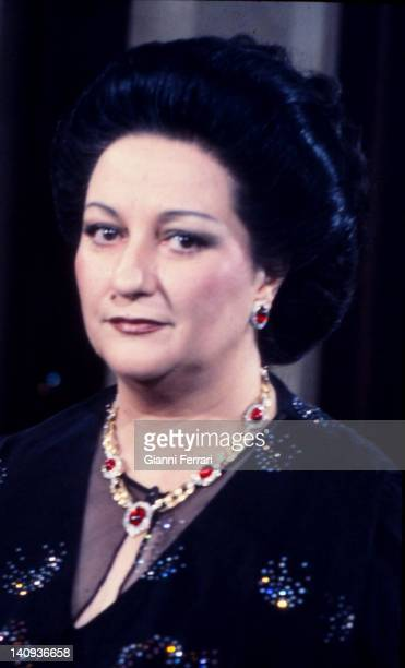 Close up of the opera singer Montserrat Caballe Barcelona Spain