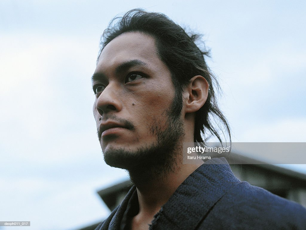 Close up of the Samurai warrior : Stock Photo
