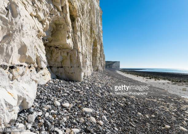 Close up of the Seven Sisters Chalk Cliffs, East Sussex, UK