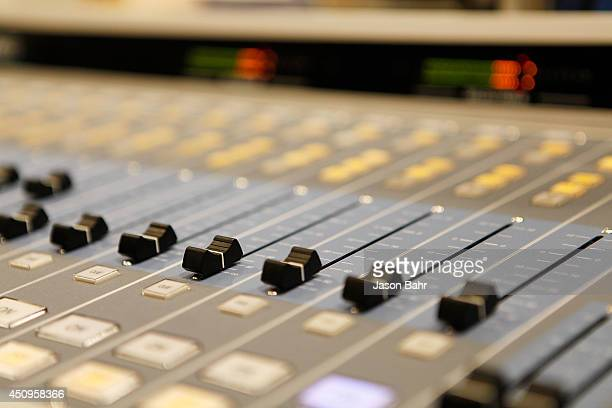 A close up of the soundboard in Seacrest Studios at Children's Hospital Colorado on June 20 2014 in Aurora Colorado