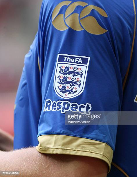 Close up of the The FA official logo and Respect badge