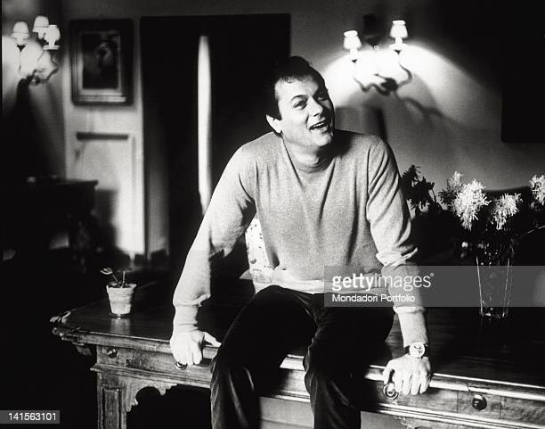 Close up of the US actor Tony Curtis in Italy to shoot his first Italian film 'The Chastity Belt' directed by Pasquale Festa Campanile The actor is...