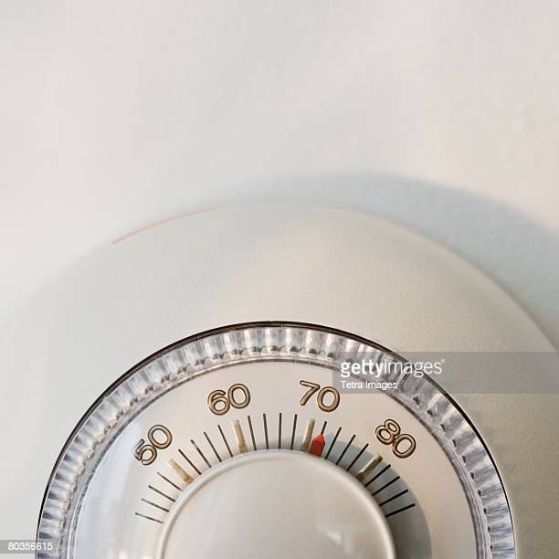 close up of thermostat - thermostat stock photos and pictures