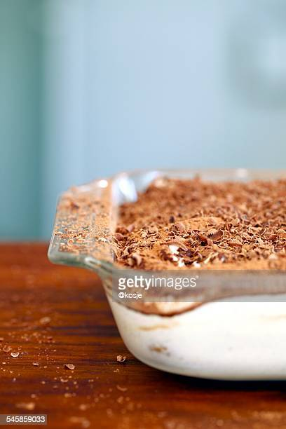 Close up of Tiramisu dessert