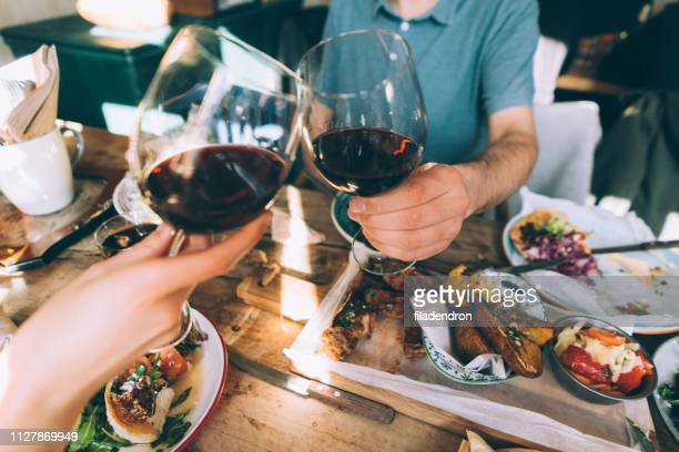 close up of toasting with wine - bulgaria stock pictures, royalty-free photos & images