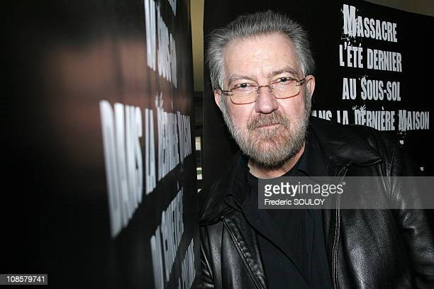 Close up of 'Tobe Hooper' at the 'Mortuary' premiere in Paris France on March 27 2006