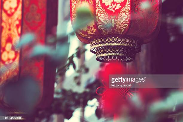 close up of traditional red lantern in china . chinese culture . - 四川省 ストックフォトと画像