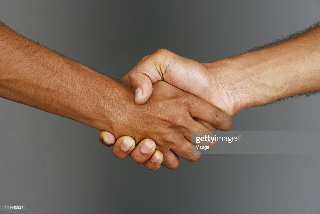 Close up of two hands : Stock Photo