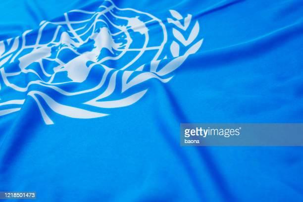 ユナイテッドの旗をクローズアップ - 平和維持 ストックフォトと画像