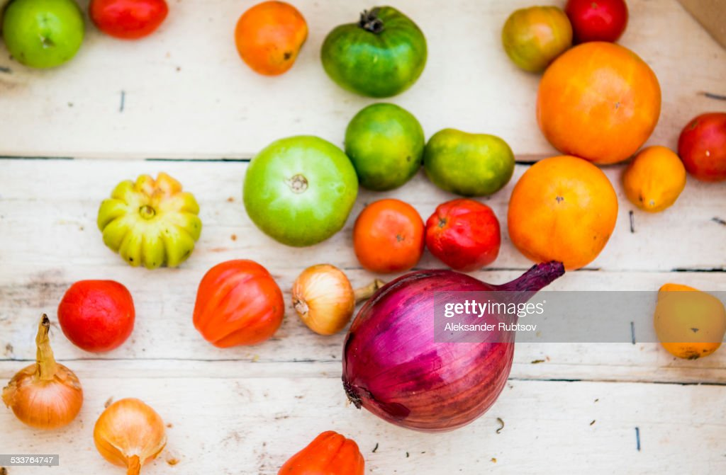 Close up of variety of produce : Foto stock