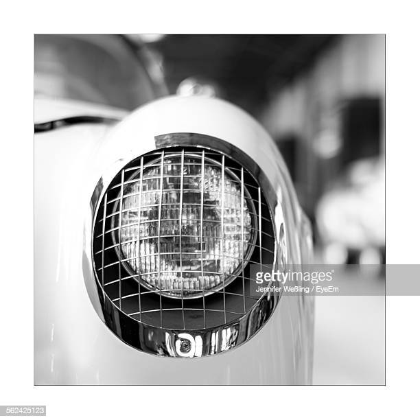 Close Up Of Vintage Car Headlight