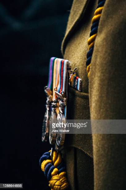 close up of war medals on jacket - third place stock pictures, royalty-free photos & images
