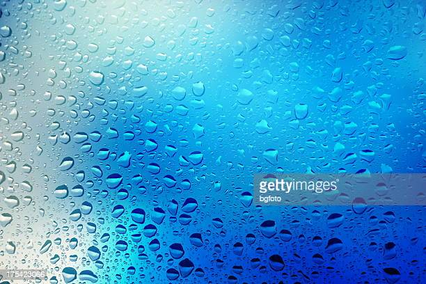 Close up of water droplets on a window