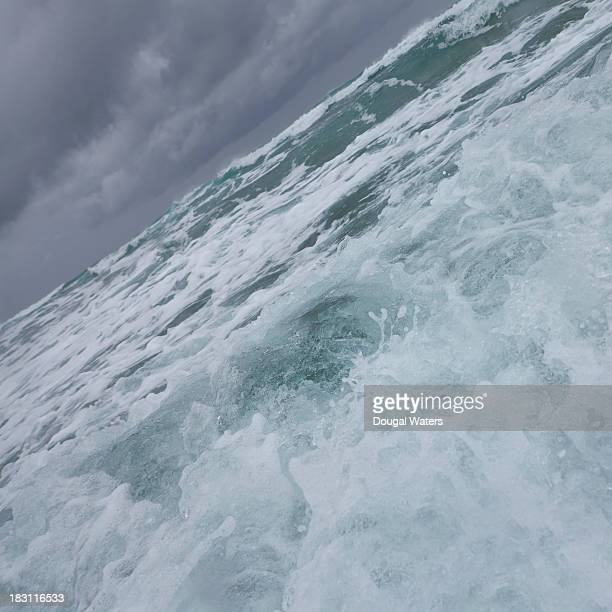 Close up of wave crashing