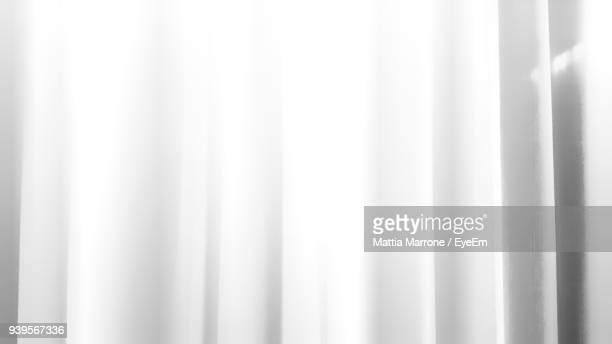 Close Up Of White Curtain