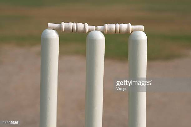 close up of wickets - wicket stock pictures, royalty-free photos & images