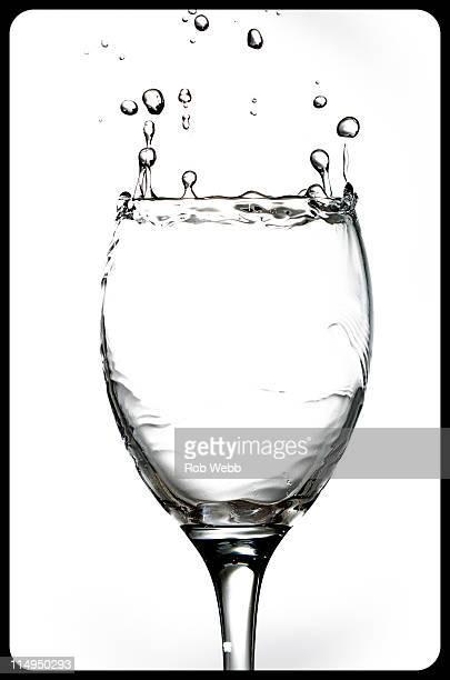 Close up of wine glass